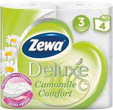 <b>ZEWA Deluxe бумага туалетная</b> 3-х слойная аром. Ромашки N 4 ...