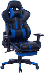 Blue Whale Gaming Chair with Adjustable Massage ... - Amazon.com