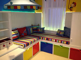 childrens storage furniture playrooms. unusual kids playroom ideas with l shape toys storage drawers and stripes pattern colorful bench childrens furniture playrooms v
