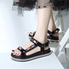 HKJL 2019 summer new <b>fashion</b> sandals south <b>Korean version</b> ...