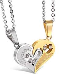 Jstyle Stainless Steel Mens Womens <b>Couple Necklace</b> Friendship ...