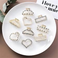 Big Sale <b>Korean</b> Fashion <b>Geometric Crystal</b> Hair Clips Multi Style ...