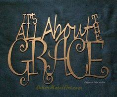 iron wall decor u love: its all about the grace metal sign wall hanging asher metal art