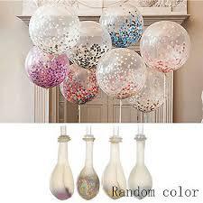 2pcs <b>12</b>'' <b>Transparent Latex Balloon</b> Confetti Paper Party Wedding ...