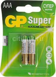 Купить <b>AAA Батарейка</b> GP Super Alkaline 24A LR03 в интернет ...
