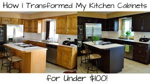 Diy Staining Kitchen Cabinets How I Transformed My Kitchen Cabinets For Under 100 Youtube