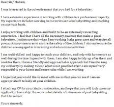 babysitter cover letter example learnistorg cover letter for babysitting job