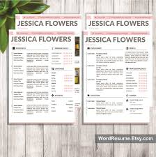 resume template cover letter and portfolio for ms word mockup template resume 284