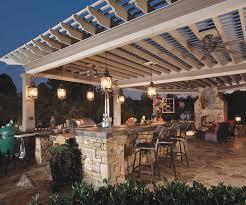 gallery outdoor kitchen lighting: patio lighting ideas gallery outdoor stone kitchen