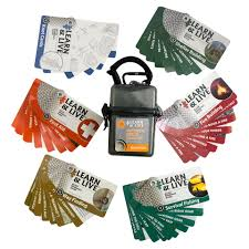 learn live outdoor skills card set