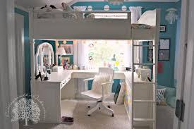 vanity loft bed bedroom