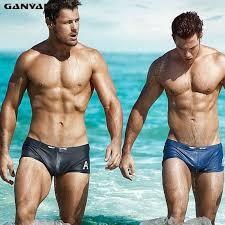 <b>GANYANR</b> Brand Sexy <b>Men Swimwear</b> Brazilian Classic Cut ...