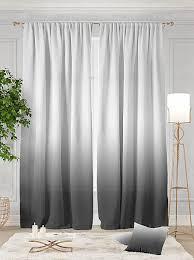 Купить <b>комплект штор</b> «<b>Витти</b> (серый)» белый, серый/черный по ...