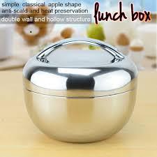 <b>Sanqia</b> 0.8l apple shape thermal insulation <b>stainless</b> steel lunch box ...
