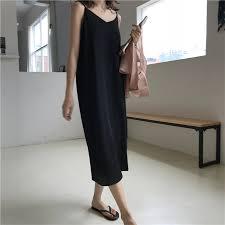 <b>Sexy Women Maxi Dress</b> Loose Sleeveless Dresses V neck Sling ...