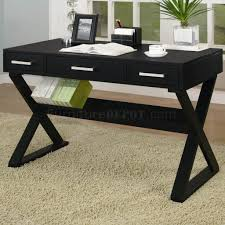 black office desk office desk with legs cross alaska black oak office desk