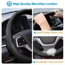 Universal 15 inch <b>Breathable Anti Slip</b> Auto Steering Wheel Covers ...