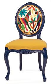 valentina gonzalez wohlers prickly chair french louis xv lines mixed with colorful chair upholstery fabric 2