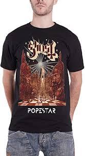 <b>Ghost</b> '<b>Popestar</b>' T-Shirt: Amazon.co.uk: Clothing