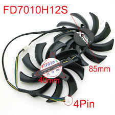 Online Shop <b>2pcs</b>/<b>lot</b> FD7010H12S 12V 0.35A <b>4Pin 85mm</b> VGA Fan ...