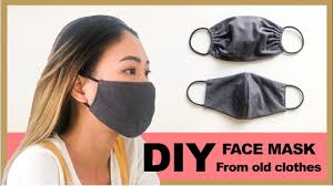 DIY FACE <b>MASK</b> from old clothes in 2 ways - <b>Washable</b> & <b>Reusable</b> ...