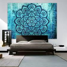 Blue <b>Lotus Flower Wall</b> tapestry – Tapestry Shopping