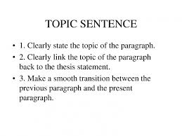 how to write a good topic sentence for research papers  phrase