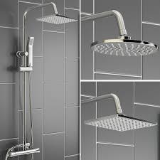 thermostatic brand bathroom: thermostatic bathroom rainfall shower set chrome mixer with hand spraychina mainland