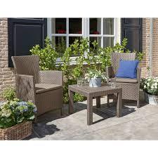 Набор садовой <b>мебели Rosario</b> полиротанг капучино: стол и 2 ...