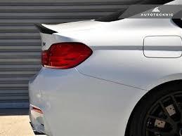 AutoTecknic BMW <b>F82 M4</b> Carbon Fiber Performante <b>Rear Spoiler</b> ...
