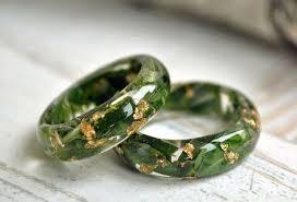Promise <b>rings</b> Eco <b>resin ring</b> Nature inspired engagement <b>ring Resin</b> ...
