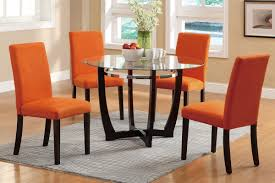 Fabrics For Dining Room Chairs Dining Room Orange Fabric Dining Room Chair With Green Painted