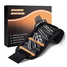 <b>GHIXACTO Polyester Magnetic Wristband</b> With 10/15pcs Strong ...
