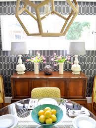 midcentury dining room modern graphic wallpaper add midcentury modern style