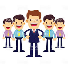 businessman in suit become a team leader stock vector art 1 credit