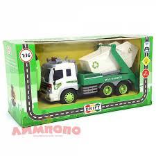 <b>Машина</b> р/у <b>грузовик</b>-<b>контейнерный</b> мусоровоз, со зв. и св., 26,5 ...