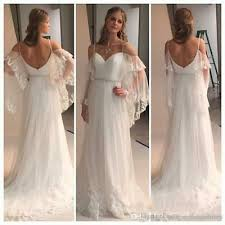 <b>Bohemian Summer Beach</b> Wedding Dresses Tiers Tulle with ...