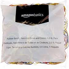 Amazon Basics Assorted Size and <b>Color</b> Rubber <b>Bands</b>, 0.5 lb.