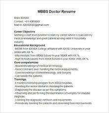 mbbs doctor resume template resume format for doctor
