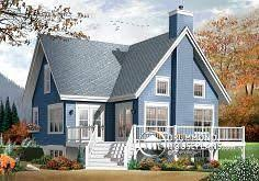 House plan W detail from DrummondHousePlans com   House Plans    Chalet   House plan W by drummondhouseplans com
