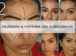 makeup tutorial how to contour and highlight your face to look thinner like kardashians when we put on our foundation it makes our face even toned