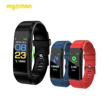 Mgoman 115 <b>band</b> Bluetooth <b>Smart Watch</b> Heart Rate Monitor <b>Smart</b> ...