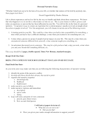 cover letter example personal narrative essay an example of a example of personal essay
