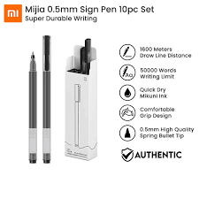 <b>Xiaomi Mijia Super Durable</b> Writing Sign Pen 0.5mm Bullet Gel Pen ...