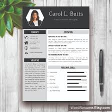 creative resume templates professional cv templates clean resume template photo cover letter carol l