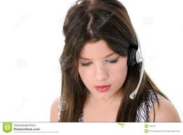 Beautiful Teen Girl With Headset Over White - beautiful-teen-girl-headset-over-white-136337