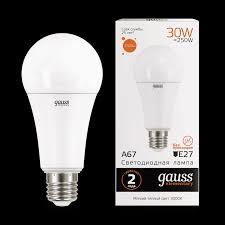 <b>73219 Gauss</b> LED Elementary A67 30W E27 3000K 1/10/50 купить ...