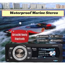 Aquatic <b>AV</b> SiriusXM <b>Waterproof</b> 1Din Marine Stereo Head Unit AM ...