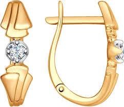 Золотые серьги <b>SOKOLOV</b> 1021120_s с бриллиантами — купить ...