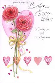 Brother and Sister in Law Wedding Anniversary Cards
